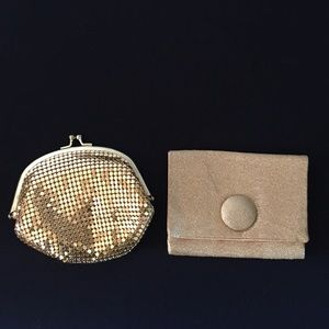 TWO Vintage Gold Purses